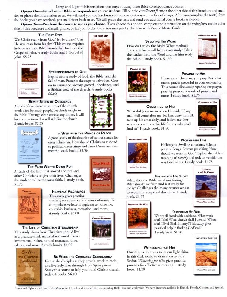 Anabaptists: Lamp and Light Publishers, Farmington, New